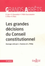 LES GRANDES DECISIONS DU CONSEIL CONSTITUTIONNEL - 17E ED.